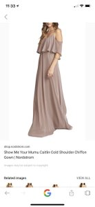 Show Me Your Mumu Dune Chiffon Caitlin Cold Shoulder Gown Casual Bridesmaid/Mob Dress Size 2 (XS)