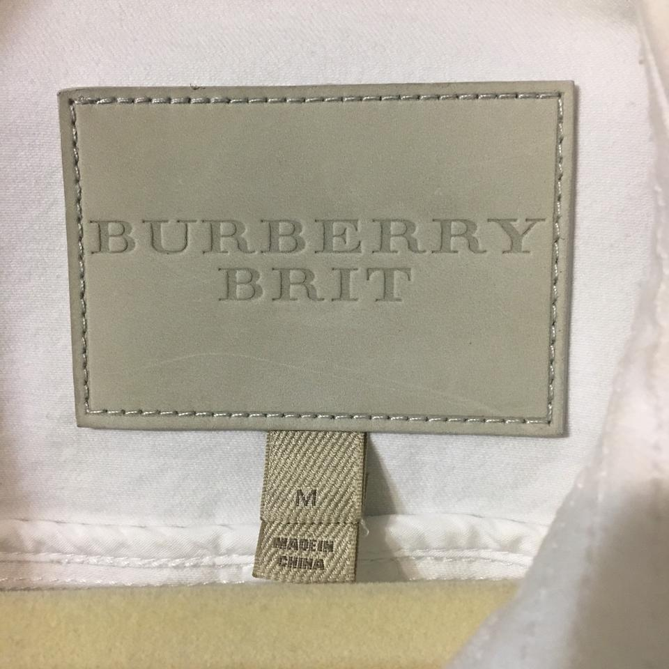 9ad1d6002f75 Burberry Brit White Button Front Cropped Jean Spring Brierly Jacket ...