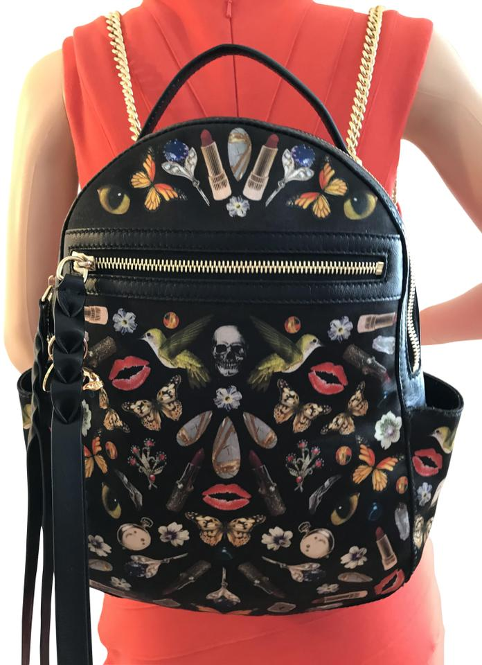 Alexander McQueen Obsession Multicolor Cotton Blend Backpack