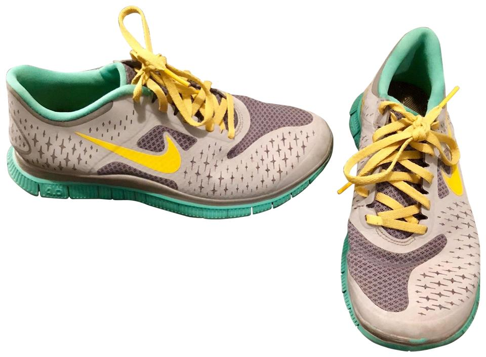 size 40 6b2f2 67589 Nike Grey Teal Yellow Livestrong Tennis Sneakers