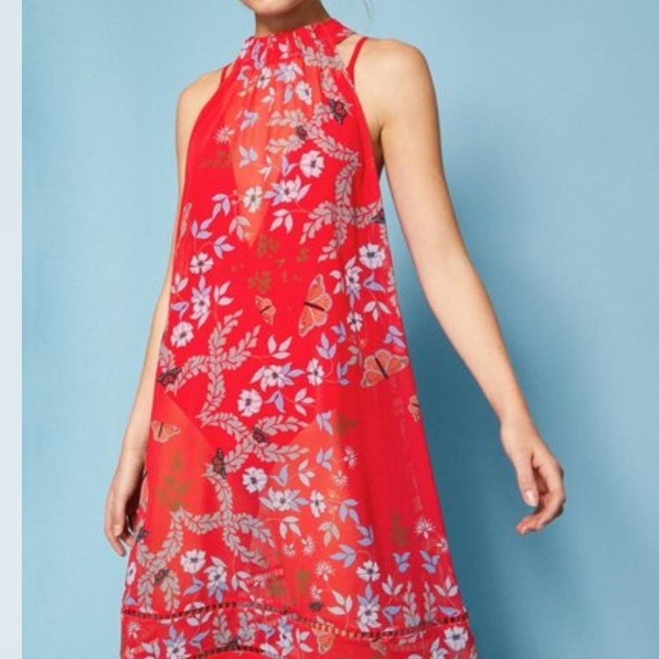 cd59972244 Ted Baker Red Kyoto Gardens Cover-up/Sarong Size 8 (M) - Tradesy