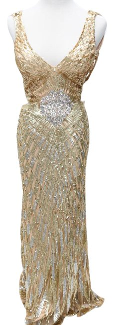 Preload https://item4.tradesy.com/images/cassandra-stone-gold-and-silver-sequin-cutout-long-formal-dress-size-2-xs-2309258-0-3.jpg?width=400&height=650