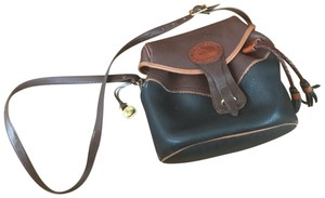 Dooney & Bourke Tote in black and brown with light brown trim