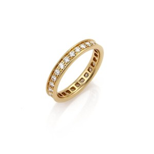 78e0023699fc Cartier Diamond 18k Yellow Gold 3.5mm Wedding Band Ring Size 49 w Cert.