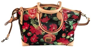 Dooney & Bourke Satchel in Red, Black, Beige
