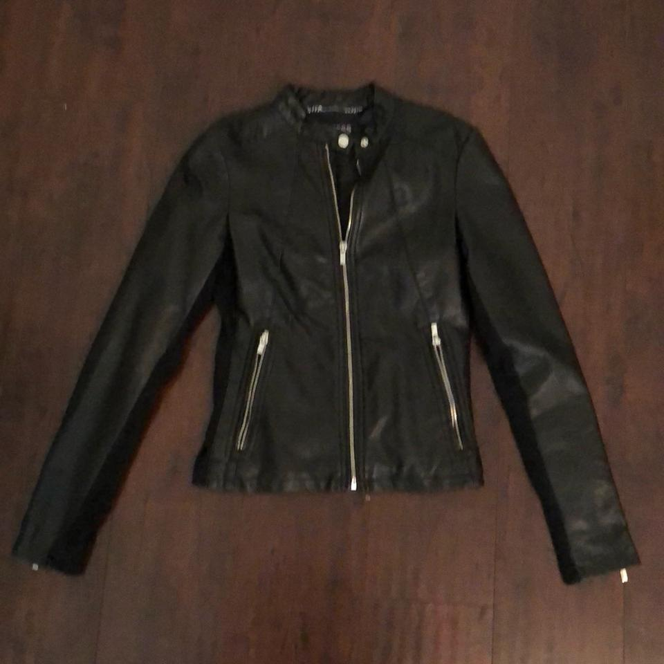 Express Black Faux Jacket Size 2 Xs Tradesy