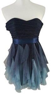 Teeze Me short dress Blue and baby blue. Is a size 1 on Tradesy