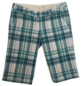 Abercrombie & Fitch Bermuda Shorts Green, blue, yellow, off-white