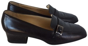 Bally Leather Moccasin Luxury Black Flats