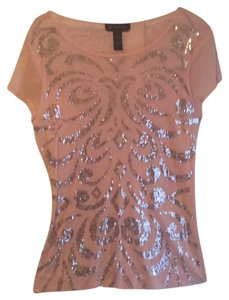 INC International Concepts Top rose sheer nylon- cute top. perfect for nights on the beach or jeans in the city !