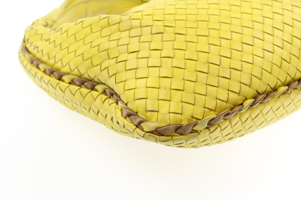 Small Bag and Brown Bottega Leather Yellow Veneta Hobo qfwt5Bzt