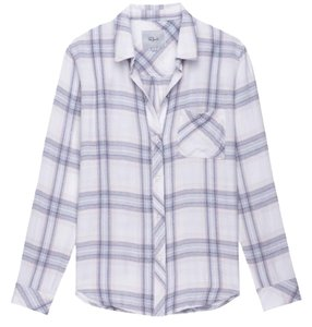 Rails Button Down Shirt White Plaid