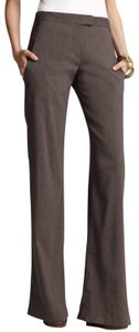 Theory Stretch Linen Classy Trouser Pants Taupe