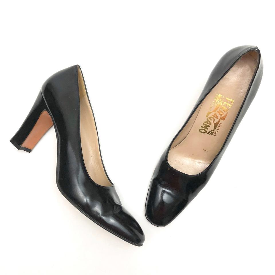 01540df0521 Salvatore Ferragamo Black Classic Leather Pumps Size US 9 Narrow (Aa ...