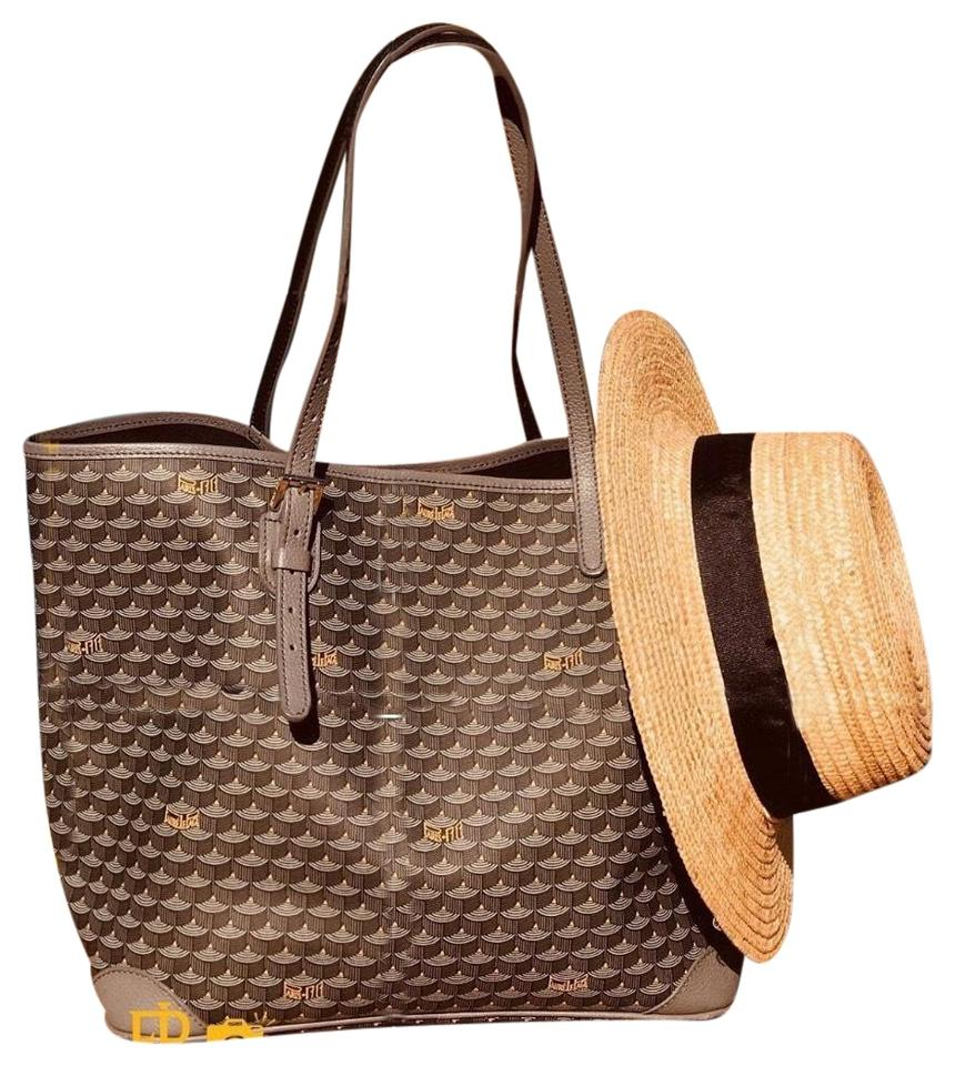 fa34ca71a51a Fauré Le Page  new Design  32 Small Daily Battle In Walnut Brown   Taupe  Leather Tote