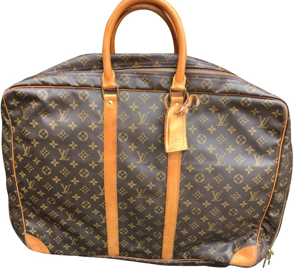 Louis Vuitton Sirius Vintage 55 Cm Soft Suitcase Monogram Toile Canvas And Leather Weekend Travel Bag