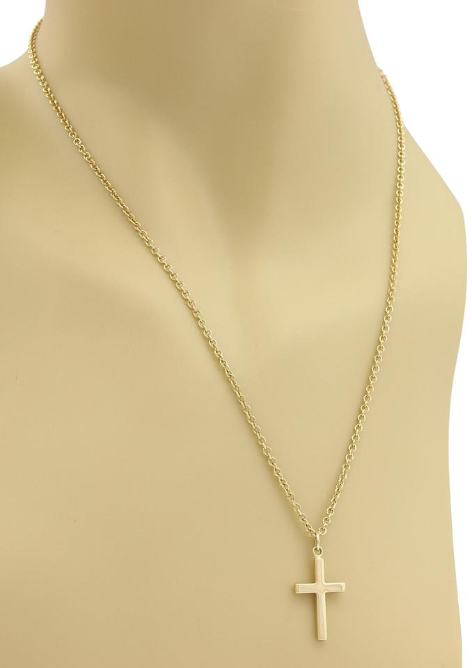 Gucci 19504 cross pendant 18k yellow gold necklace tradesy gucci cross pendant necklace in 18k yellow gold aloadofball Images