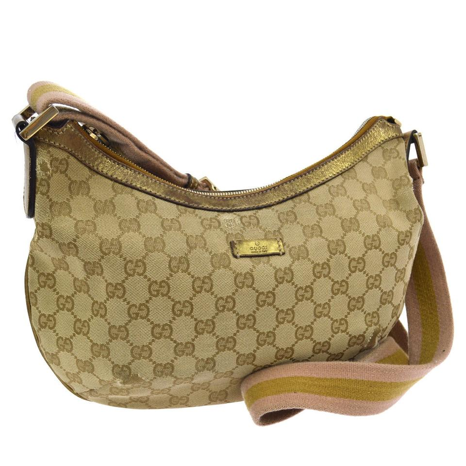 efb46e7dddd Gucci Great For Everyday Sporty Accent Stripe Crossbody Shoulder Excellent  Condition Fun Pink Gold ...