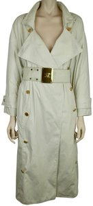 Chanel Logo Belted Rain Resistant Trench Raincoat