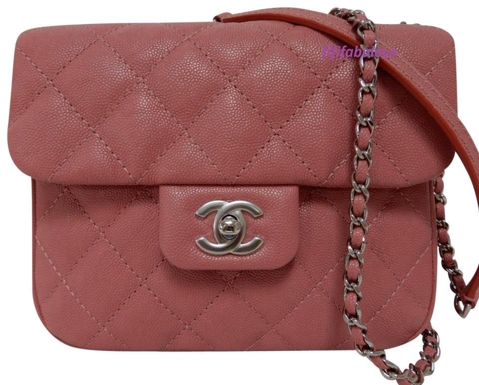 b4f6c7affe4 Chanel Classic Flap Caviar Dusty Rose New 2018 Pink Leather Cross ...