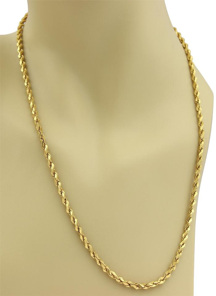 59362cab6a6b7 19429/ Twisted 22k Gold Rope Chain Necklace