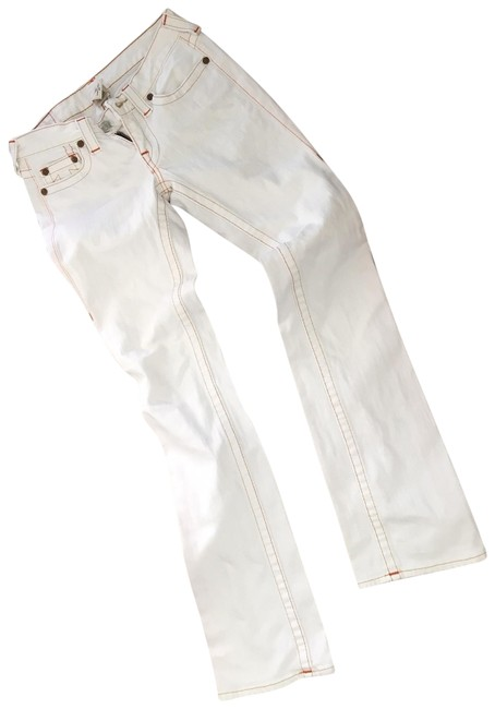 Item - White Light Wash Johnny Boot Cut Jeans Size 27 (4, S)