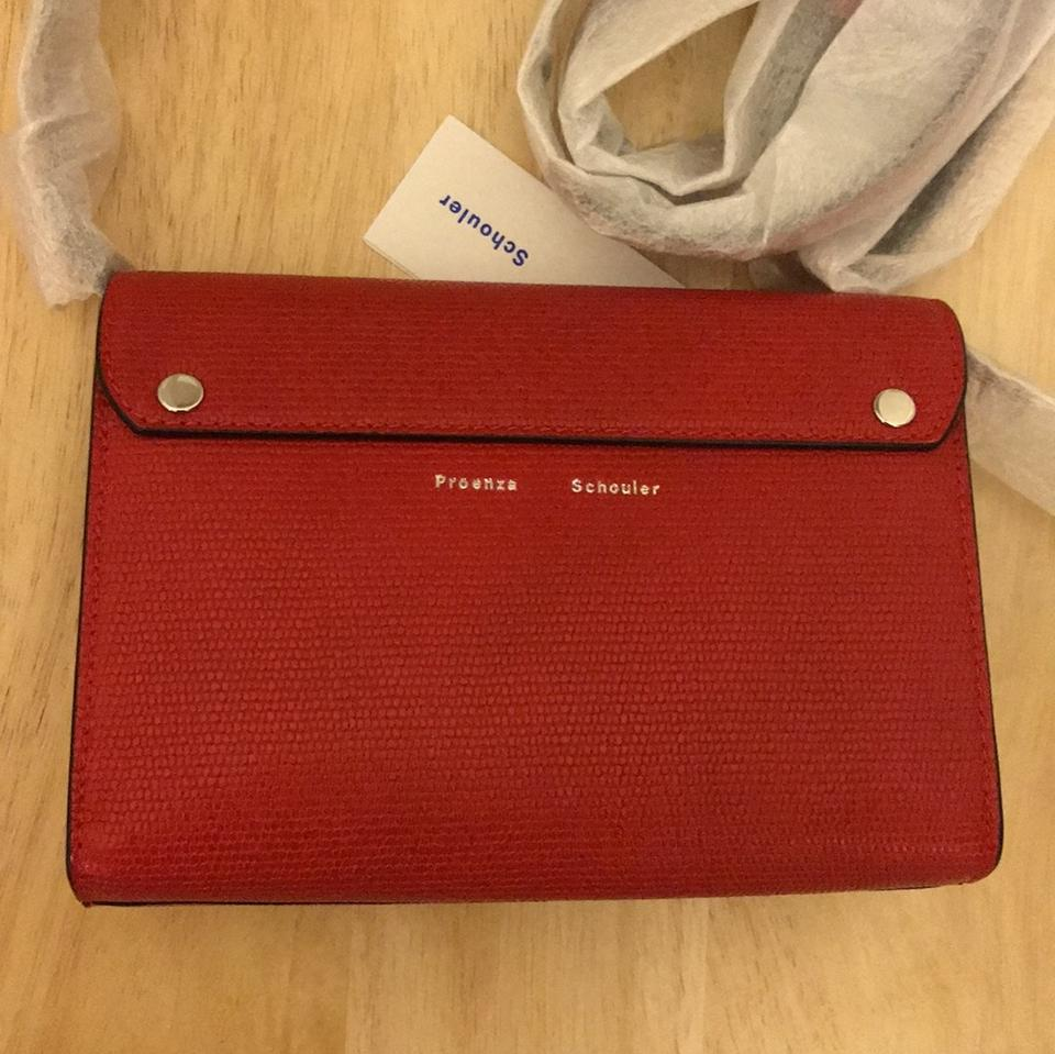 Cross Bag with Proenza Strap Calfskin Leather 11 Body Ps Wallet Schouler Cardinal Red q7I1Iwvr