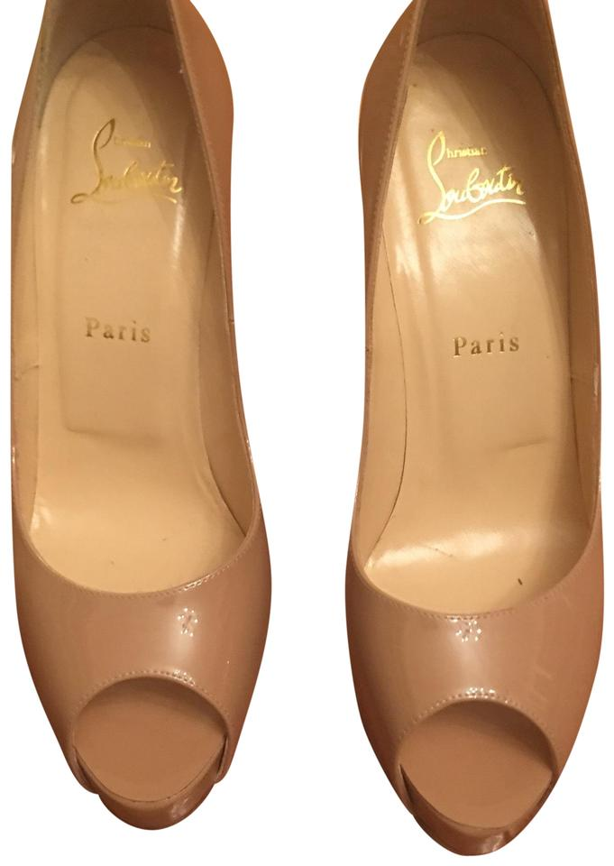 120 Louboutin New Christian Very Nude Patent Platforms Prive Af6gnq