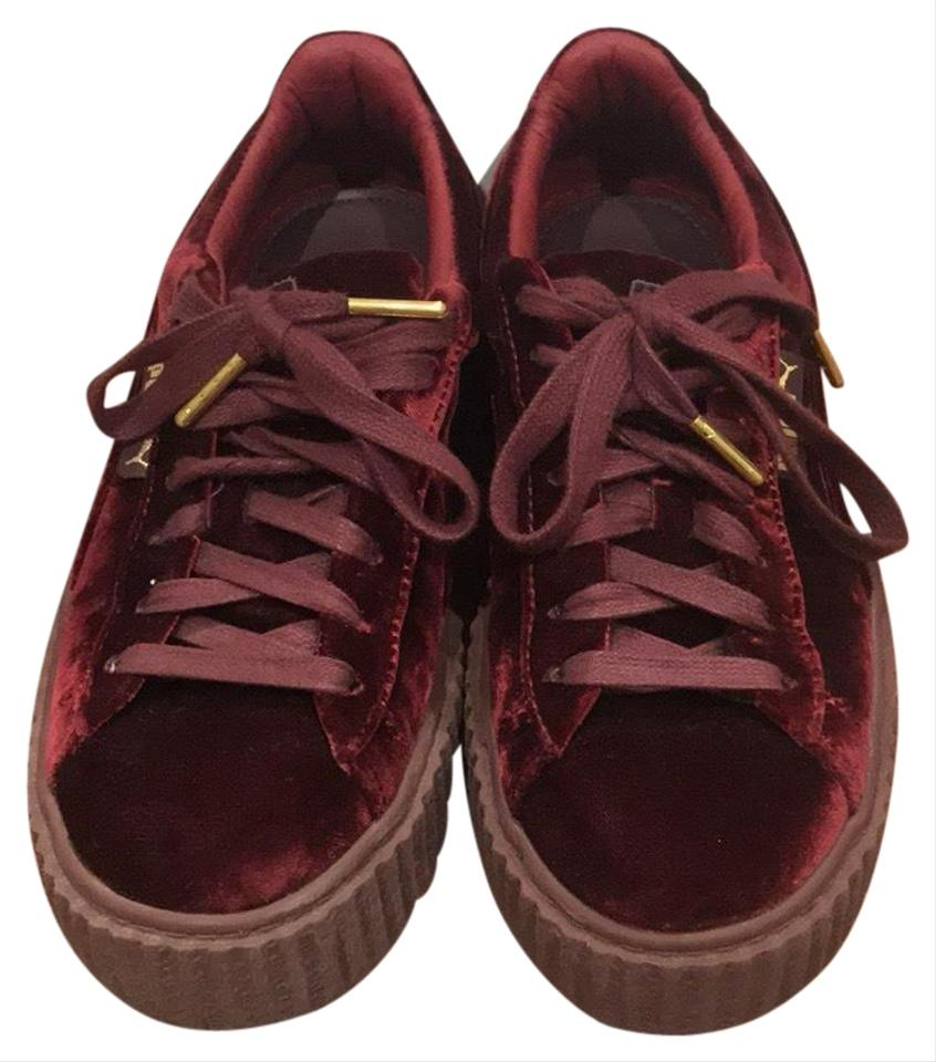 huge discount a7c16 cb826 Burgundy Creepers Sneakers