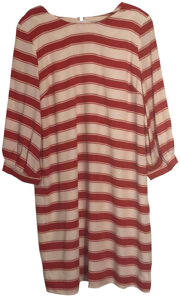 a3ffac7796 Rosie Pope Red + White Striped Long Sleeve Maternity Dress. Size: 8 (M) ...