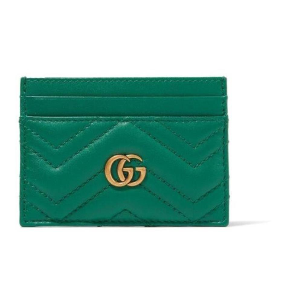 Gucci Marmont Quilted Leather Card Case Holder Wallet - Tradesy