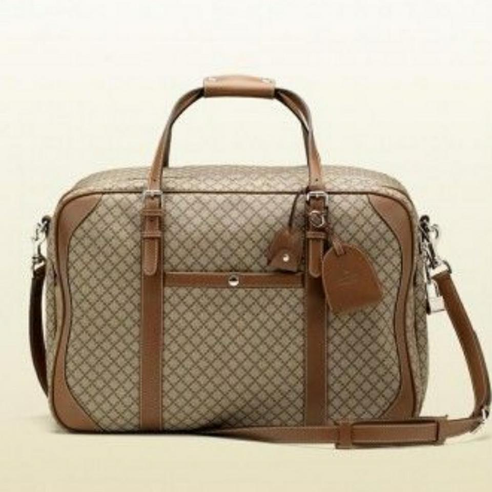 45b71826a10b Gucci Large #267905 Beige/Brown Diamante Plus Coated Canvas Weekend ...