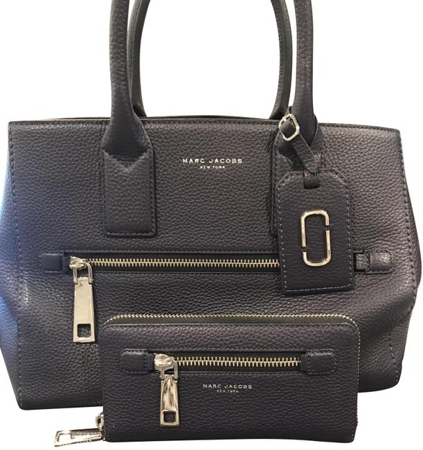 Item - Top Handle Strap and Matching Wallet (Gotham) Nightshade with Silver Hardware Leather Tote