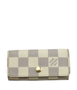 Louis Vuitton Louis Vuitton N60020 4 Key Damier Azur Key Ring (146199)