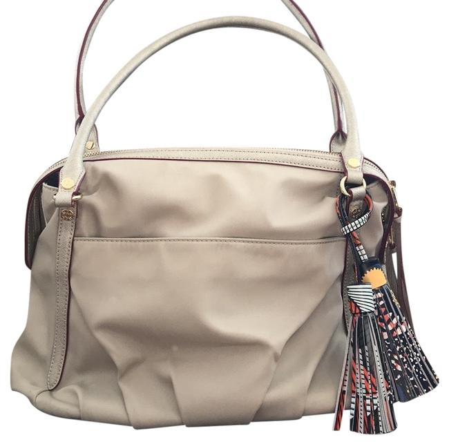 Item - Flax ( Light Sand ) Gold Metal Bedford - Synthetic Georgie Tote