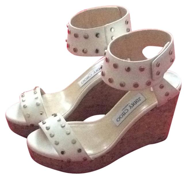 Item - White Nelly Wedges Size EU 37.5 (Approx. US 7.5) Regular (M, B)