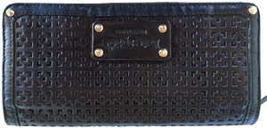 Kate Spade Kate Spade Perforated Black Leather Wallet Red Lining