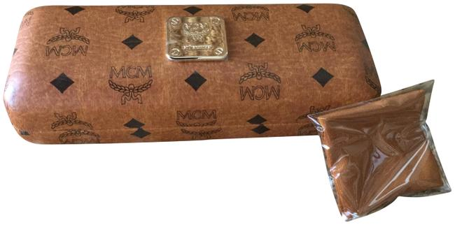 Item - Cognac Eyeglass Case New Hardshell with Cleaning Cloth