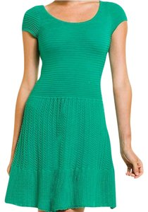 Lilly Pulitzer short dress Emerald Green Sweater Wear To Work Drop Waist on Tradesy