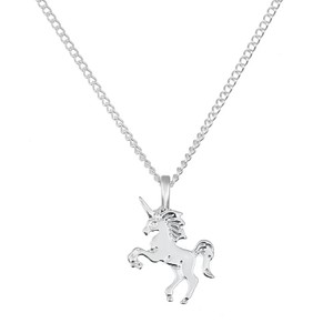Fashion Jewelry For Everyone Sterling silver Unicorn Unicorn Horse Clavicle Pendant Necklace