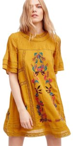 Free People short dress NWT_Amber Omg Lace Trim Floral Embroidery Vintage Inspired Lined on Tradesy