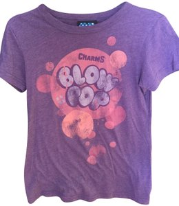 Junk Food Vintage Look T-shirt T Shirt Purple