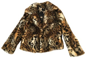 Mother Faux Fur leopard Jacket