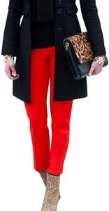 J.Crew Cropped Classic Date Night Office Capris Red