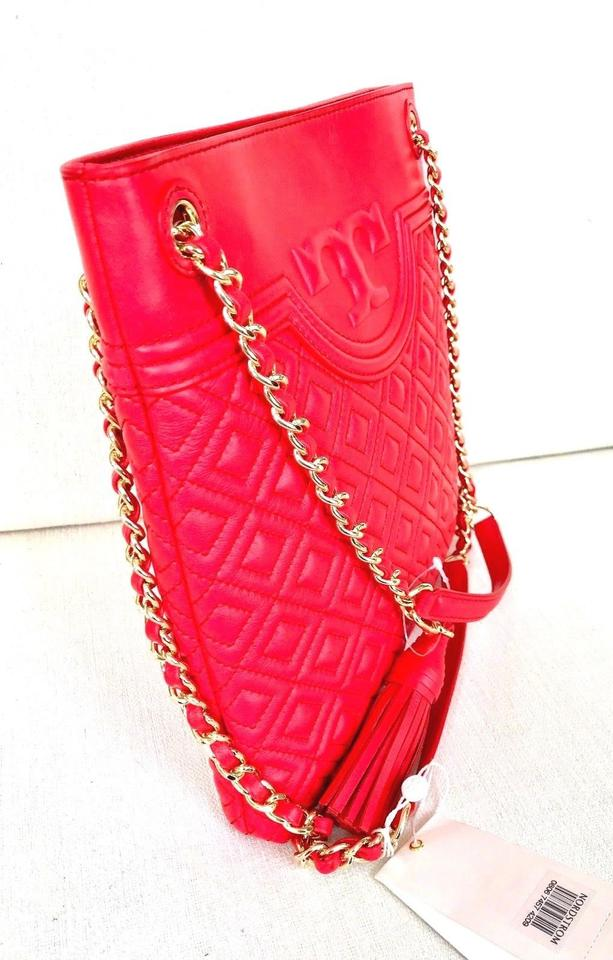 78cde6eb1d1c Tory Burch Fleming Swingpack Quilted Red Leather Cross Body Bag - Tradesy