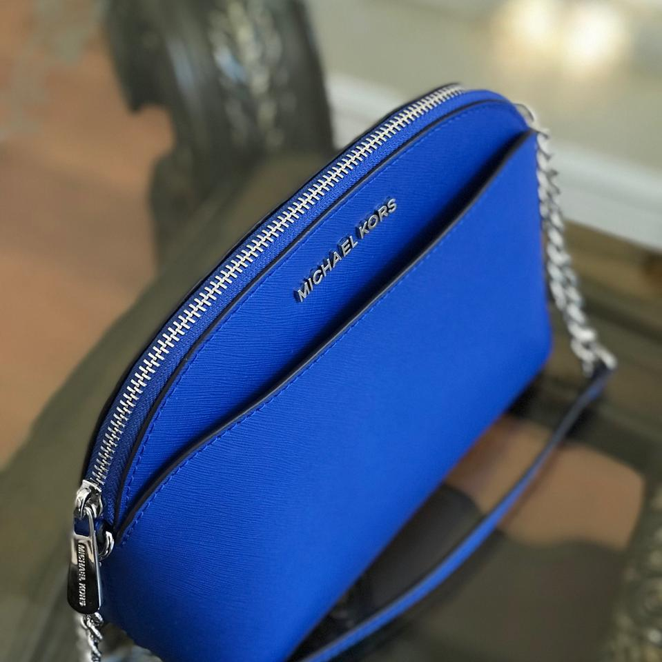 40b1c92be23f Michael Kors Leather Spring Gift Next Day Shipping electric blue Messenger  Bag Image 7. 12345678