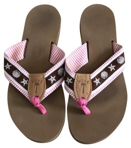 Eliza B pink and brown Sandals