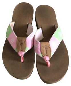 Eliza B pink and green Sandals