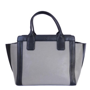 Chloé Tote in Cashmere Grey & Black
