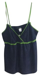 J.Crew Top Navy with Green Accents